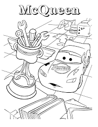 mcqueen coloring page free download
