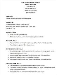 Functional Skills Resume Templates Free Functional Resume Templates Resume Template And