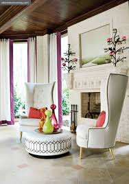 Chairs With Ottomans For Living Room To Tuft Or Not To Tuft Creamy White Purple And Lounge Chairs