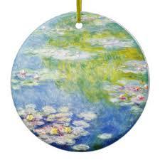 monet water paintings ornaments keepsake ornaments zazzle