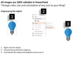 colorful bulbs for ideas display powerpoint templates powerpoint