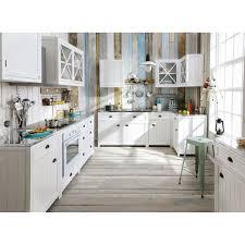 meuble bas de cuisine pour four en bois blanc l 70 cm newport