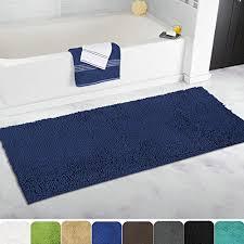 navy blue floor l mayshine non slip bathroom rugs shag shower mat machine washable