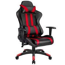 fauteuil de bureau relax chaise de bureau racing sport inclinable pivotante tectake