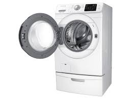 Front Load Washer With Pedestal Wf5200 4 2 Cu Ft Front Load Washer Washers Wf42h5200aw A2