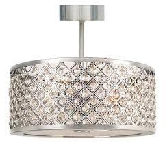 stylish bathroom flush light with clear crystal 28w g9 ip44 double