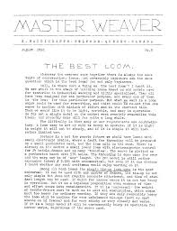 digital archive of documents related to looms