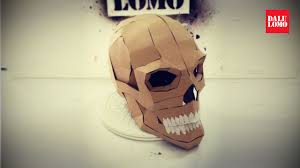 how to make human skull cardboard prop youtube