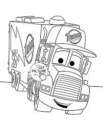 cars mack coloring page for kids disney coloring pages printables