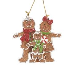 gingerbread family resin ornament