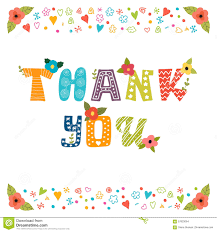 thank you card design greeting card with flowers stock