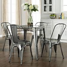 Stunning Metal Kitchen Tables Pictures Home  Interior Design - Metal kitchen table