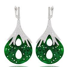 green drop earrings er1882 sterling silver 925 green jade drop earrings zuly s design