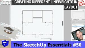 learn to create floor plans with different line weights in