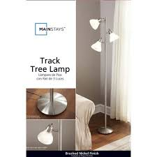 mainstays track tree lamp brushed nickel walmart com