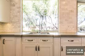 Porcelain Tile Backsplash Kitchen Carrara Marble Backsplash Homesfeed