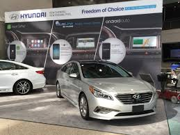 hyundai car models hands on with apple carplay and android auto in the 2015 hyundai