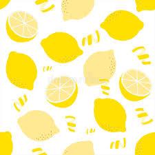 seamless lemon pattern seamless lemon pattern on white background stock vector
