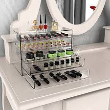Makeup Bathroom Storage Homdox Acrylic Makeup Organizer 5 Drawers Cosmetics And Jewelry