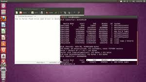 format as fat32 ubuntu how to format flash drive pen drive in ubuntu any version youtube