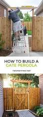 How To Build A Wooden Pergola by How To Build A Fence Pergola Twofeetfirst
