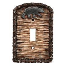 bear light switch covers rustic light switch covers wall plate design ideas