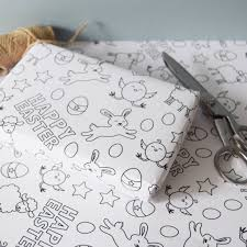 easter wrapping paper easter colour in wrapping paper by jg artwork notonthehighstreet