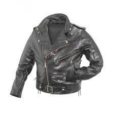 Leather Motorcycle Jacket Mens Black Biker Jacket