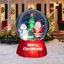 Inflatable Christmas Decorations Outdoor Cheap - animated airblown santa making snow angel 139 99 this would be
