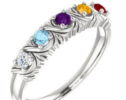 mothers ring 6 stones 3 mothers ring etsy