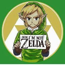 Zelda Memes - dude i m not zelda meme on me me