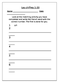 french numbers 1 20 worksheet by kathryn carroll tpt