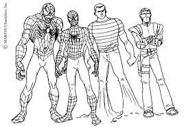 print u0026 download spiderman color pages