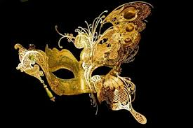 gold masquerade mask farbella green gold