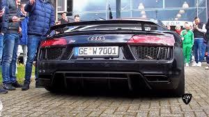 Audi R8 V10 Plus - 2016 audi r8 v10 plus w capristo exhaust start up revs