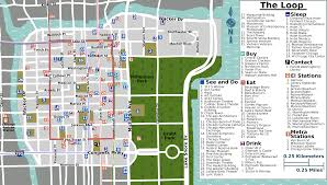 Map Chicago Loop Map Chicago Chicago Map