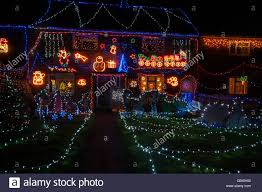 Christmas Decorations Shop Westfield by Westfield Christmas Xmas Lights East Sussex Uk Stock Photo