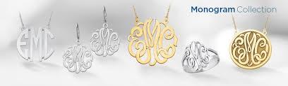 monogram jewlery monogram jewelry saunders jewelry