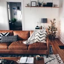 deco canape marron salon cuir marron fonce meilleur idées de conception de maison