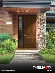 Energy Efficient Exterior Doors 3 0 X 8 0 Therma Tru Classic Craft Rustic Collection Fiberglass