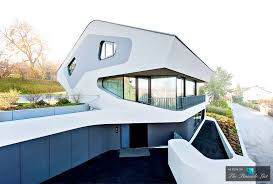modern architecture at the futuristic ols house in stuttgart