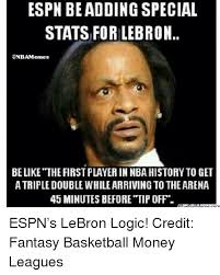 Fantasy Basketball Memes - espn be adding special stats for lebron onbamemes be like the
