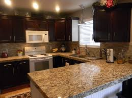 elegant kitchen backsplash ideas decor omicron granite countertop with peel and stick tile