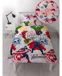 marvel avengers mission single duvet cover set bedroom bedding
