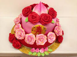 chinese oriental 80th birthday cake cake by bellebelious7