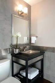 Modern Powder Room - modern powder room with console sink wall sconce ronald redding