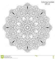 mandala coloring page for vector illustration stock vector