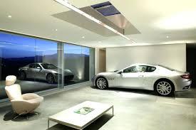 powerful rustic style home living room underground garage design
