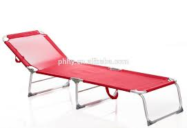 Camping Lounge Chair Aluminum Folding Bed Beach Bed Camping Bed Reclining Bed Alu Beach