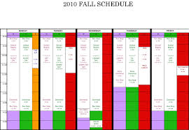 wfmw a color coded weekly schedule the meanest momma
